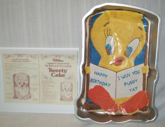 Tweety Bird Cake Pan Instructions