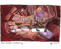 Fire Emblem Awakening: Game Over - 11x8 original painting