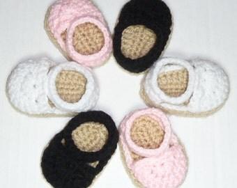 PDF CROCHET PATTERN - Espadrille Sandals for American Girl Dolls - Instant Download