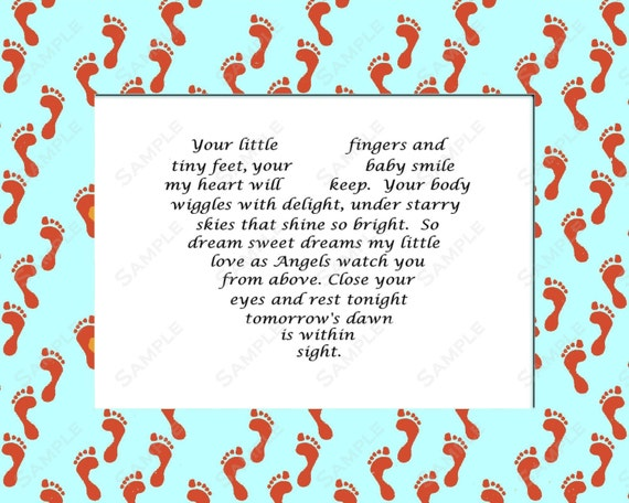 Items Similar To Baby Boy Love Poem Gift Instant Digital