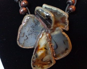 Chunky Moss Agate Neck Piece (Necklace)
