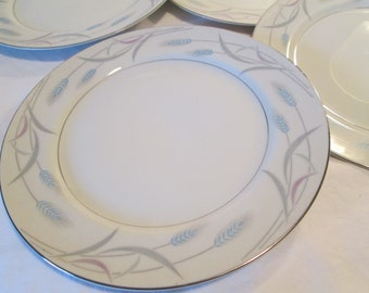 Vintage Valmont China Royal Wheat Dessert / Bread Butter Plates - Set of 4