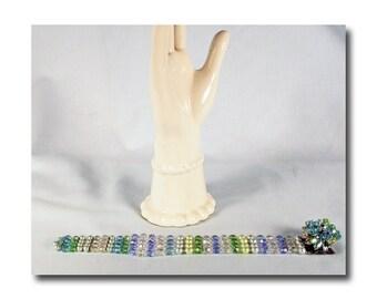 Eugene Schultz Crystal Bead Bracelet
