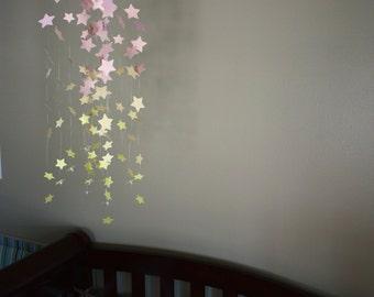 Pink / Yellow Stars - Girly Baby Mobile