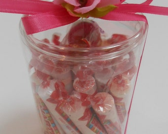 Clear Plastic Candy Containers / Clear Tubes / Candy Tubes - 6 tubes