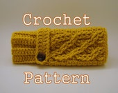 PDF Crochet Pattern - Celtic Cable Fingerless Mittens - Instant Download