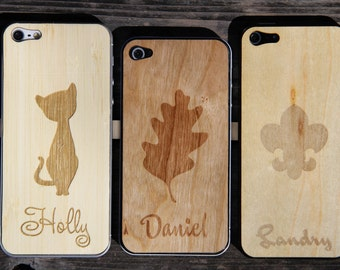 Personalized Real Wood iPhone Skin
