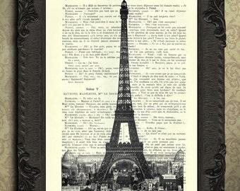 Eiffel tower art Paris decor for home French wall decor, Paris prints, small art prints
