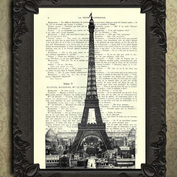 Small Eiffel Tower Wall Decor : Eiffel tower art paris decor for home french wall