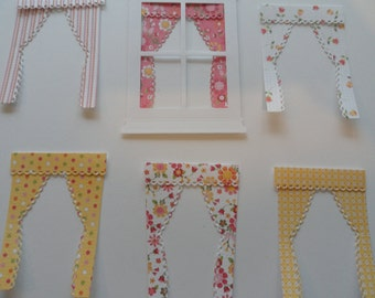 Die Cut Grand Madison Curtains Set of 6