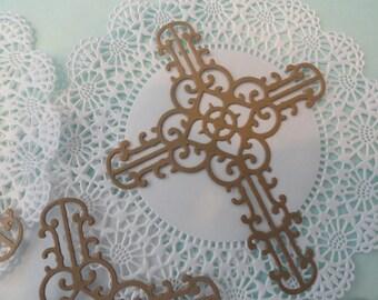 Ornate Die Cut Crosses Set of 8