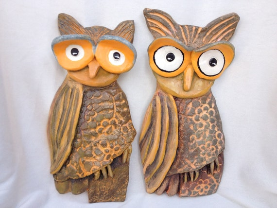 Items Similar To Wall Decor Ceramic Owl Decor Wall