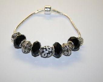 Melanoma Cancer Black Charm Bracelet