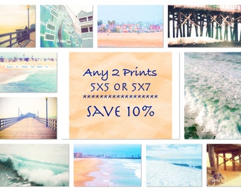 Any 2 5x5 OR 5x7 Prints , DISCOUNT SET, Save 10% on Two 5x5 or 5x7 Photographs of Your Choice