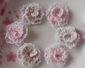 6 Crochet Flowers (Roses) YH-130