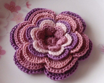 Larger Crochet Flower in 3-1/4  inches YH-120-02