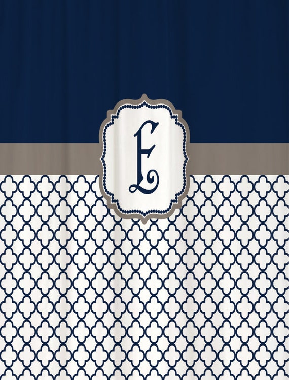 ... inch Extra Long Custom Monogram Personalized for You Warm Gray & Navy