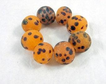 Leopard Lampwork beads, Leopard spotted beads, Lampwork beads