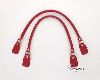 1 Pair 23 inch Synthetic Leather Purse Straps (Red) F003