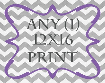 Any (1) 12x16 Print - ANY prints from Rizzle And Rugee -  Great for IKEA frame