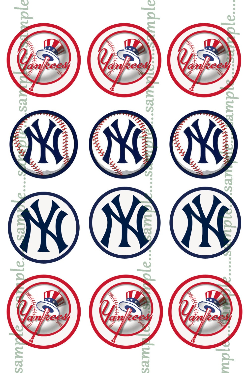 instant download new york yankees bottle cap images