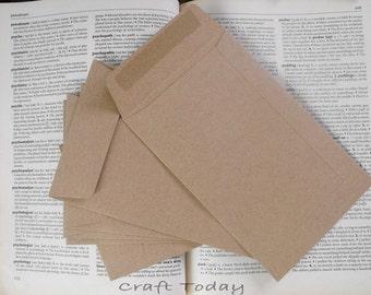 Brown Kraft Paper Envelopes Set of 25 Size: 4.5X7inches ( 11.5 Cm. X 17.8 Cm. )