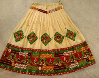 Vtg India Skirt - Banjara/Tribal/Kuchi/Gypsy - Belly Dancing - Boho
