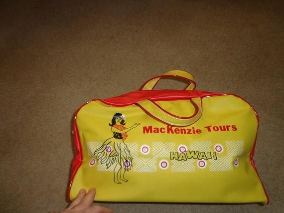 MacKenzie Tours Hawaii travel bag tote 1950s nice shape