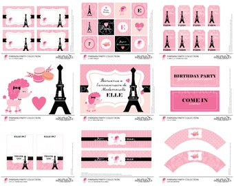 Parisian Party Complete Set, Digital, DIY, Printable