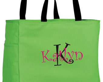 11 Bridesmaid Gift Monogrammed Personalized Tote Bag Wedding Party