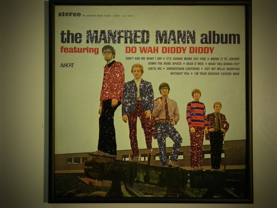 Glittered Record Album - Manfred Mann - The Manfred Mann Album