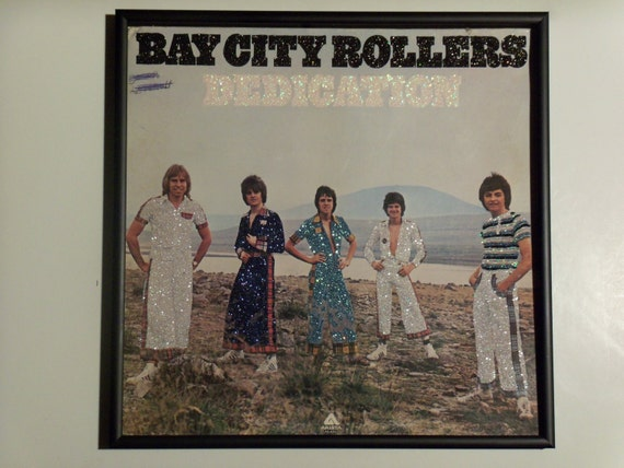Glittered Record Album - Bay City Rollers - Dedication
