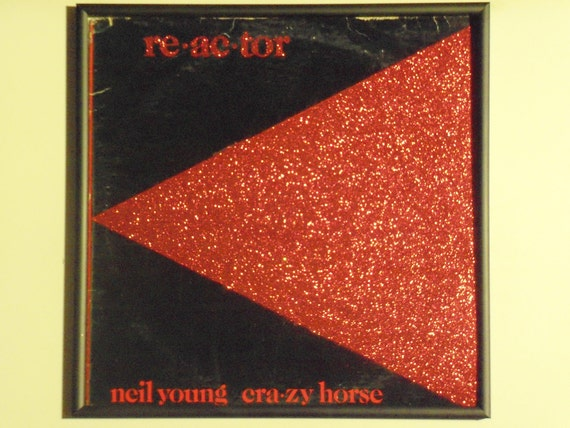 Glittered Record Album - Neil Young Cra-zy Horse - Re-ac-tor