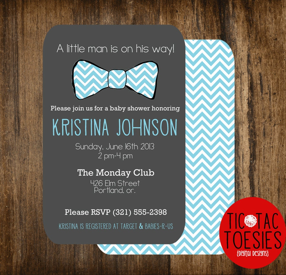 little man baby shower invitation bow tie baby shower bow