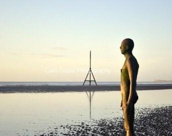 The Iron Man, Crosby Beach, Liverpool, UK