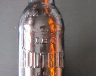 IBC Root Beer Bottle Co 12 oz Brown Bottle No Deposit No Return