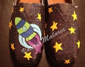 Sale Fly me to the moon Toms shoes - ValeriaMalariaArt