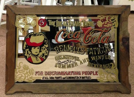 Vintage Coca Cola Mirror Sign