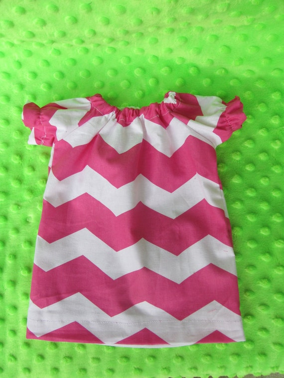 American Girl Chevron Peasant Dress