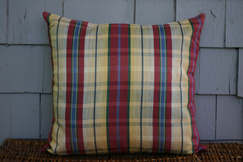 Decorative Throw Pillows Clearance : CLEARANCE-Plaid Decorative Throw Pillows 18 x 18 by Pillowcessory