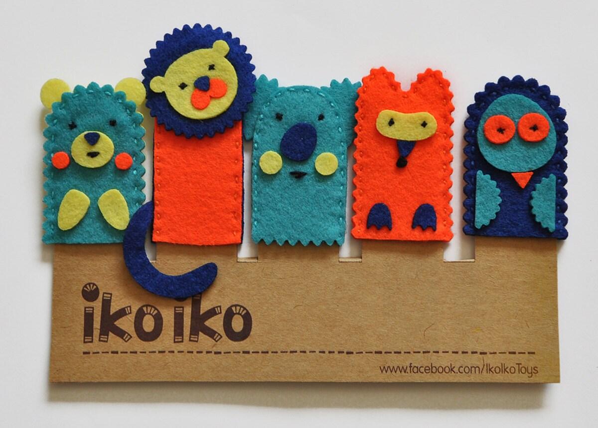 Set De Baño En Pano Lenci:IKO Títeres de dedo Títeres del Bosque Set de 5 por IkoIkoToys