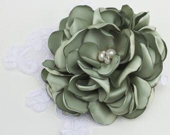Sage Gardenia Hair clip