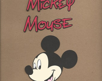 1 4 inch Mickey Mouse Cricut Die Cut