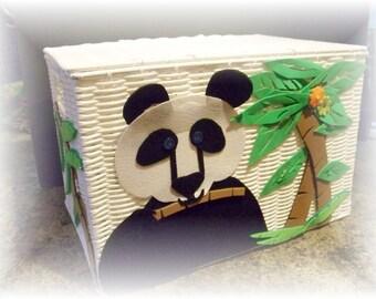 Panda diaper basket