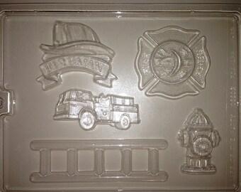 J83 - Chocolate Novelty Mold - Firefighter
