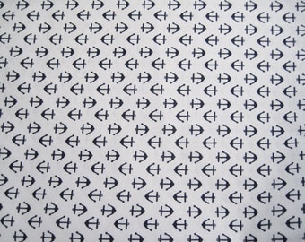 "Anchor print fabric  - remnant  16"" x 42"""