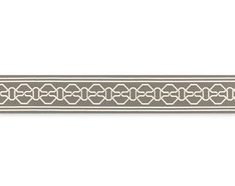 "Mary McDonald for Schumacher 6"" wide ""Malmaison""  Flat Trim by the yard"