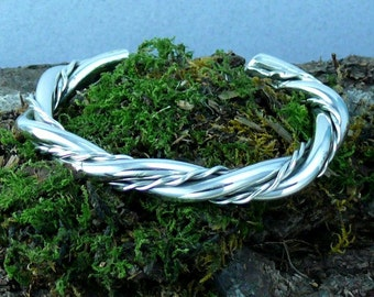 Small Twisted Sterling Silver Cuff Bracelet