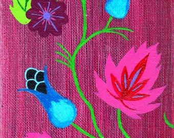 Original art, Menominee Flowers