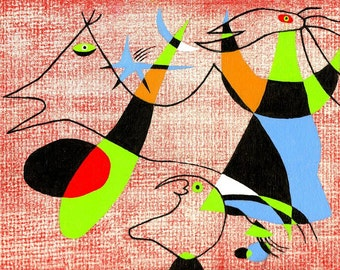 Miro with a Twist, original painting